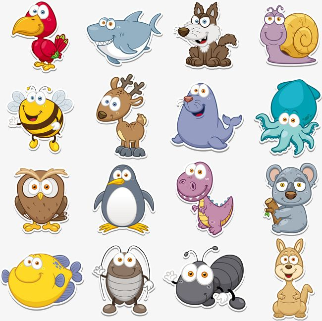 Q Version Animal Vector Collection Animal Clipart Animal Collection Q Vector Png Transparent Clipart Image And Psd File For Free Download Animal Icon Animal Illustration Cartoon Animals