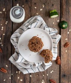 Healthy zucchini cookies that are both and delicious and good for you with banana oats flax coconut oil coconut sugar and (of course) zucchini.