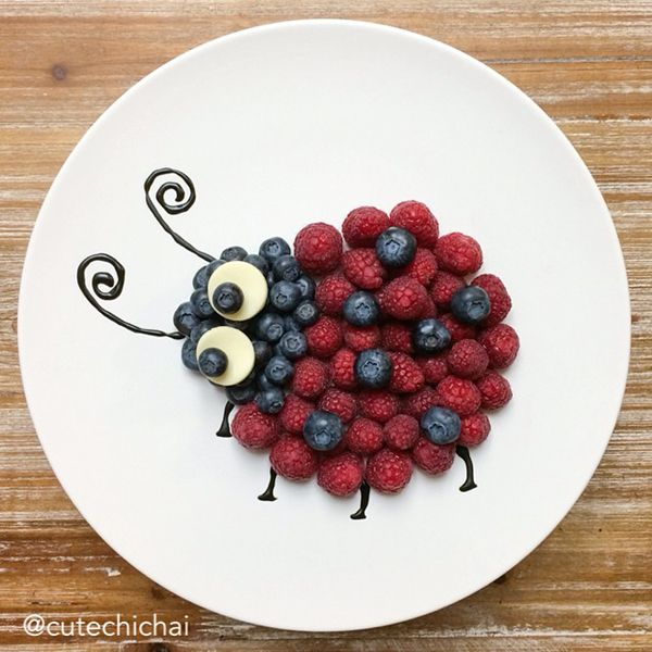 What kid wouldn't want to snack on this adorable berry ladybug!