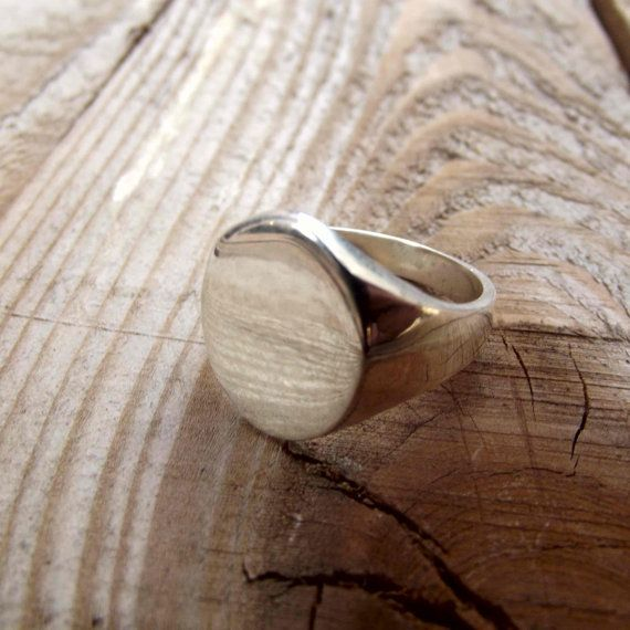 925 sterling silver men ring oval signet ring by silveringjewelry