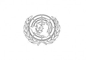 United Nations Flag Colouring Page