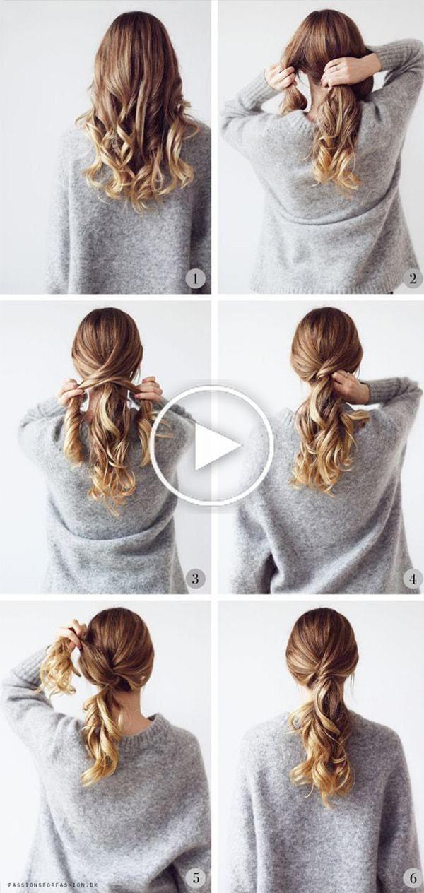 Coiffures Pas A Pas Tres Simple Et Beau Pour L Ecole Coiffure Facile Idees De Coiffures Coiffure Cheveux Long Facile