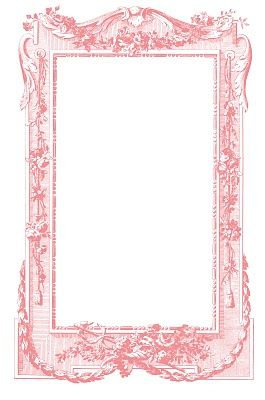 Free printable pink vintage scroll frame.  DIY crafting printables for scrapbooking, collages, mixed media art, photos, picture backgrounds, gift tags, labels  blogs.  Graphics Fairy