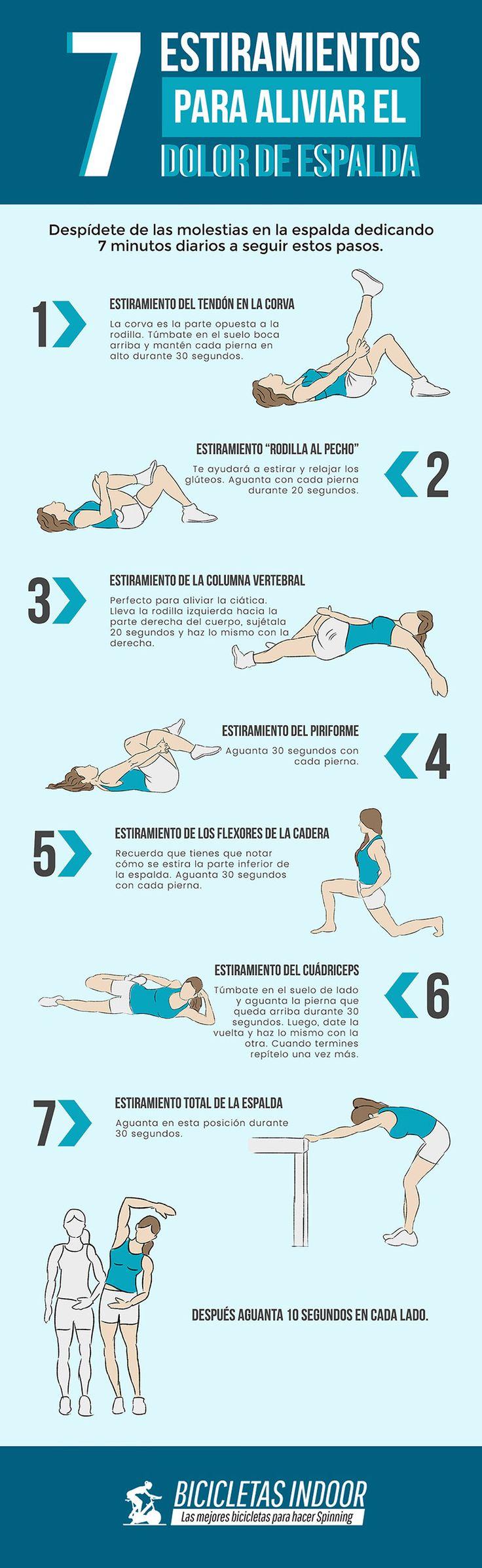 7 #estiramientos para aliviar el dolor de #espalda.