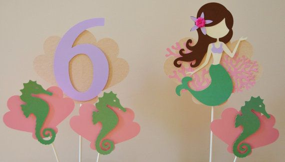 Entire Mermaid Theme Birthday Party by KhoshtinatDesigns on Etsy, $75.00