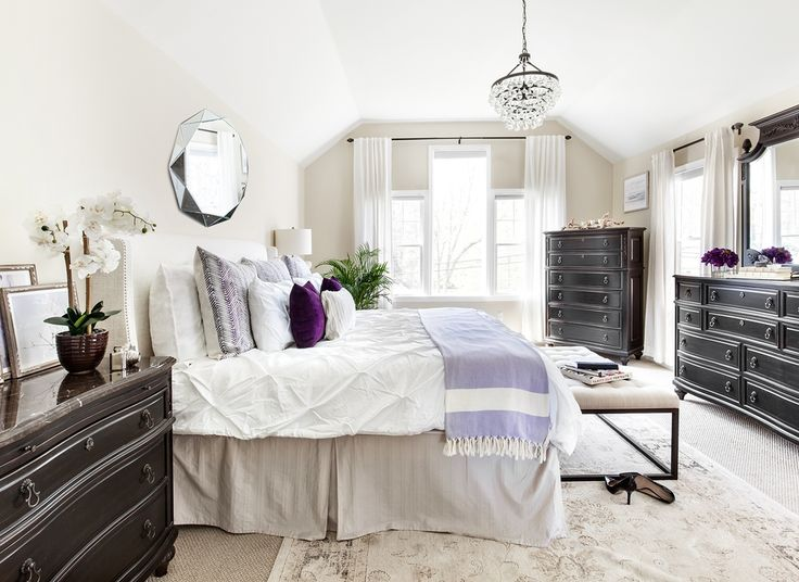 Behind The Design: A Romantic & Zen Master Bedroom | Decorist Blog | see more at: https://www.decorist.com/blog/behind-the-design-a-romantic-zen-master-bedroom/