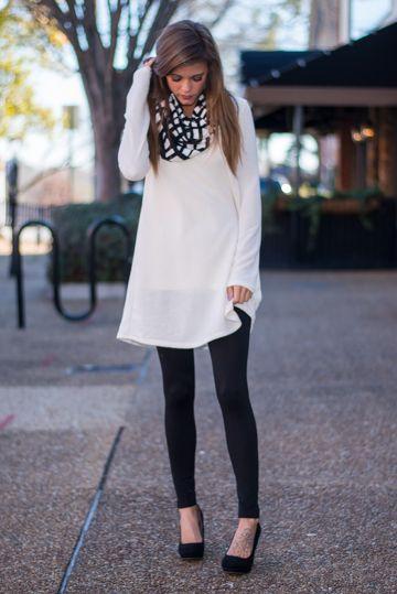 Check Me Out Dress, White/Black