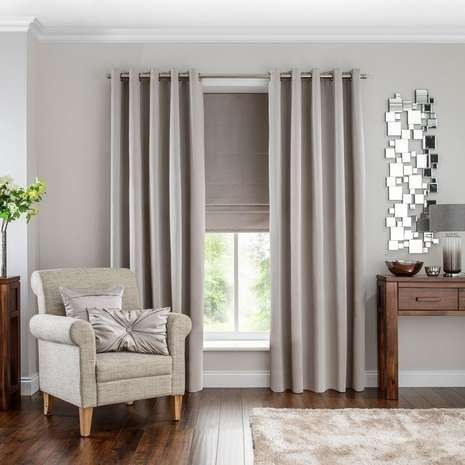 Available in a number of widths and drop lengths, these grey satin slub curtains…