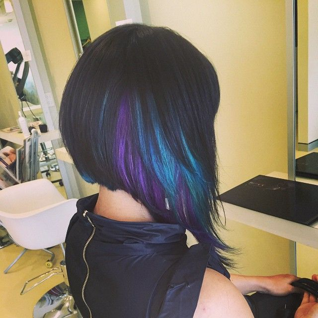 Best 25 peekaboo hair ideas on pinterest peekaboo highlights extreme concave with turquoise sugarplum purple peekaboo panels using novacolor fun colour for a tuesday morning pmusecretfo Image collections