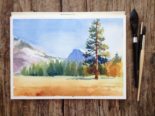 Landscape paintings can caputre more than just a pretty scene — they can capture emotion and feeling, too. Learn how to turn a simple scene into an emotive watercolor landscape with this easy-to-follow tutorial.