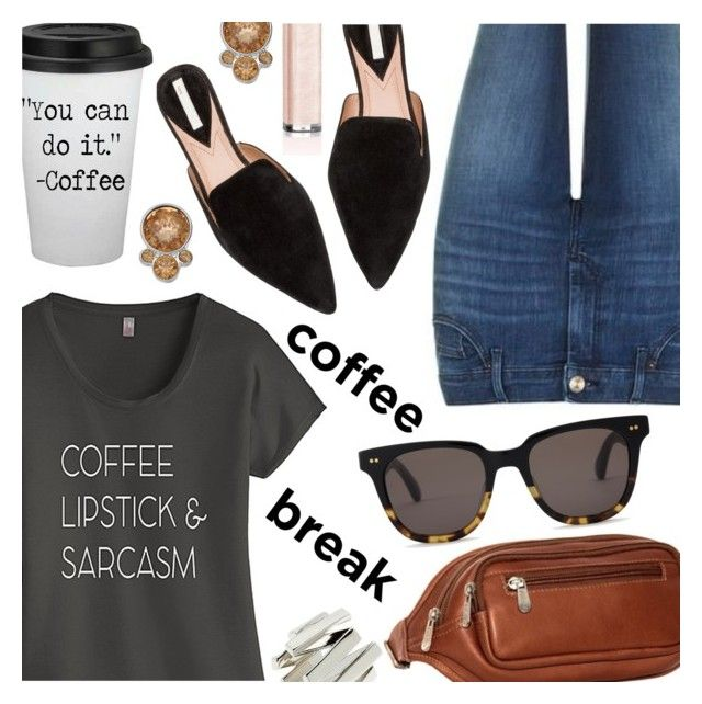 """""""Coffee Break"""" by stacey-lynne ❤ liked on Polyvore featuring Topshop, TKO Tees, Piel Leather, TOMS, Moutton colleT, Dolce&Gabbana and Simply Vera"""