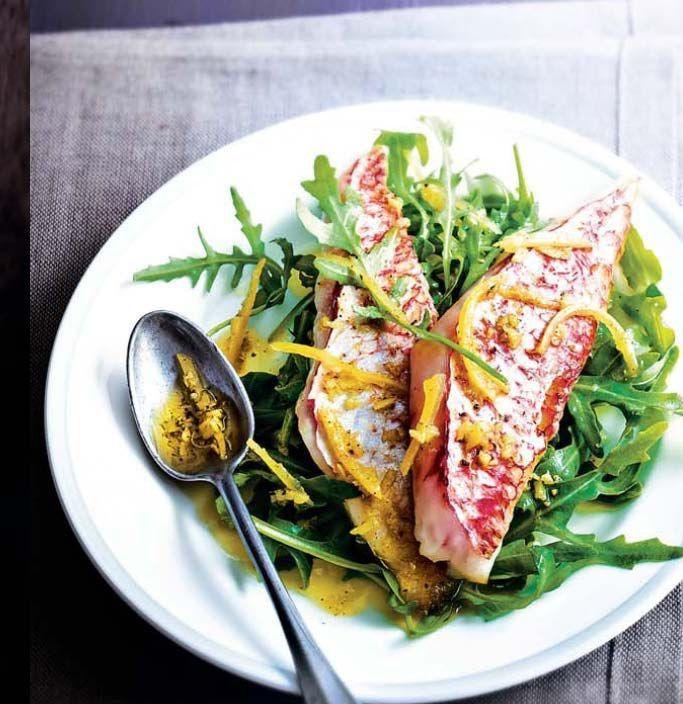 Salade de rougets au citron confit