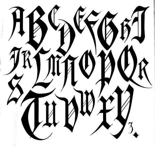 Graffiti Tattoo Lettering Generator: Old English Font - Google Search