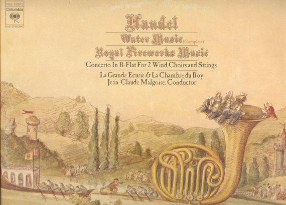 Handel LP Water Music complete Royal Fireworks Music by vinylplus