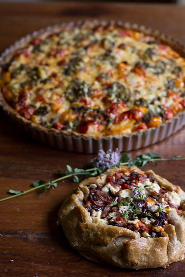 The Tomato Tart Off! Round One Maggy's Goat Cheese Tart vs. Sabrina's Mediterranean Galette