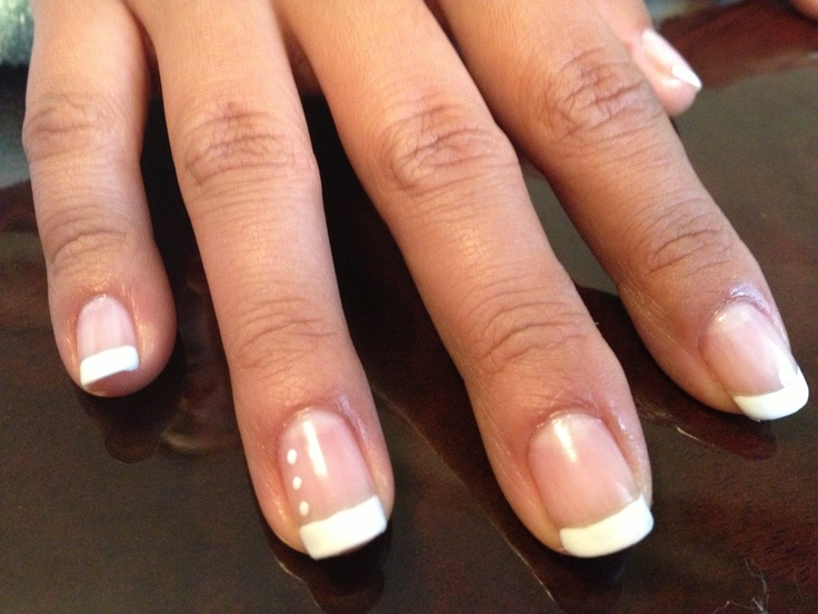 French mani with a simple accent nail