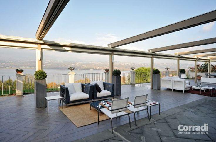 Pergolati - pergotenda 60 di Corradi - per un terrazzo vivibile in tutte le stagioni - Centro Tende