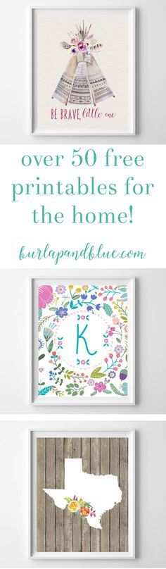 Love free printable art? This post has over 50 modern & fun designs for the nursery, kitchen, bedroom, living room and more! Download and print for free! This collection of free printables has something for everyone.