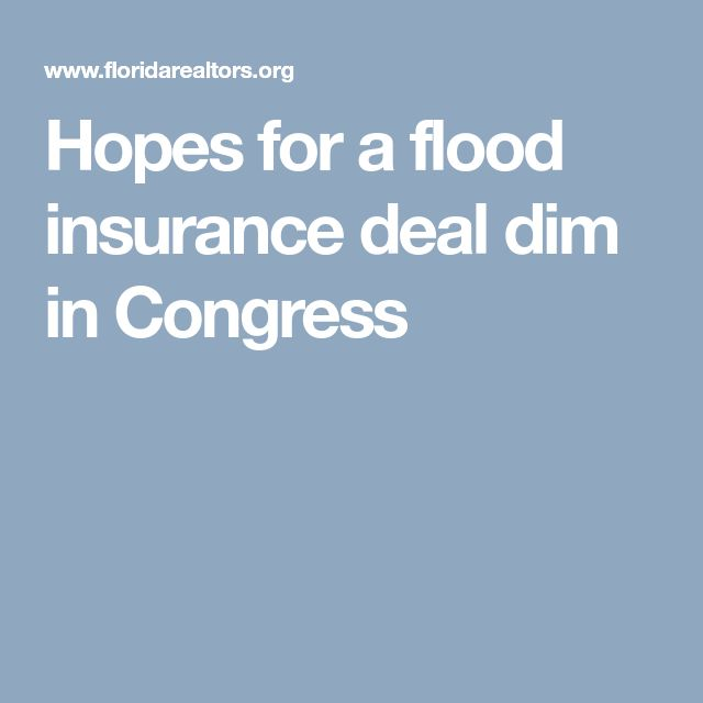 Hopes for a flood insurance deal dim in Congress
