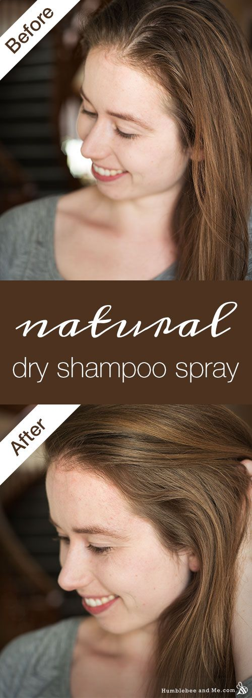 How to make a natural dry shampoo spray that really works!