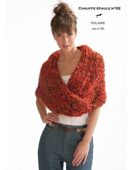 Modèle Chauffe épaule CB17-02- Patron tricot gratuit