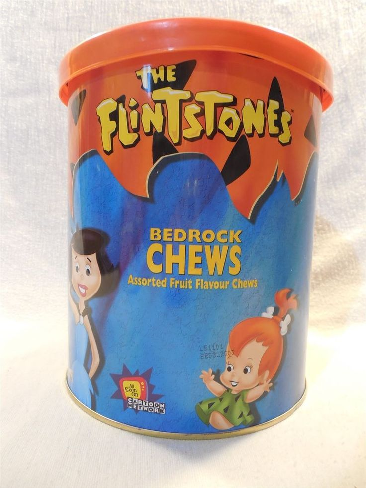 Flintstones 2000 Large Metal Bedrock Chews (Fruit Chews) Can from UK 150 pc  | eBay