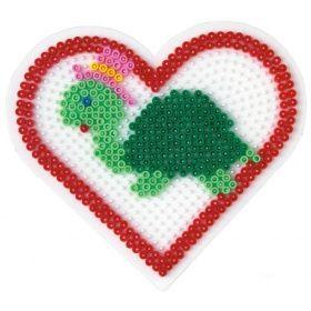 Turtle heart hama bead pattern