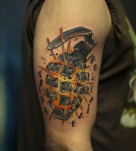 tattoo images- grenade exploding