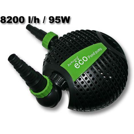 Pompa per stagni Jebao ATP-8500 Eco 8.200 l/h 95W Pompa a filtro Skimmer - 50074 - Giardino, piscina