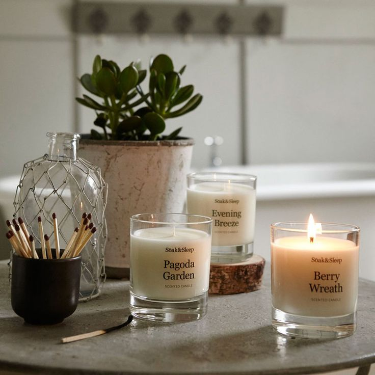 Pagoda Garden scented candle by Soak & Sleep