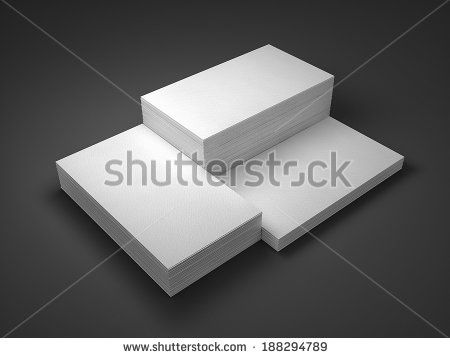 stacks of business cards mockup - stock photo