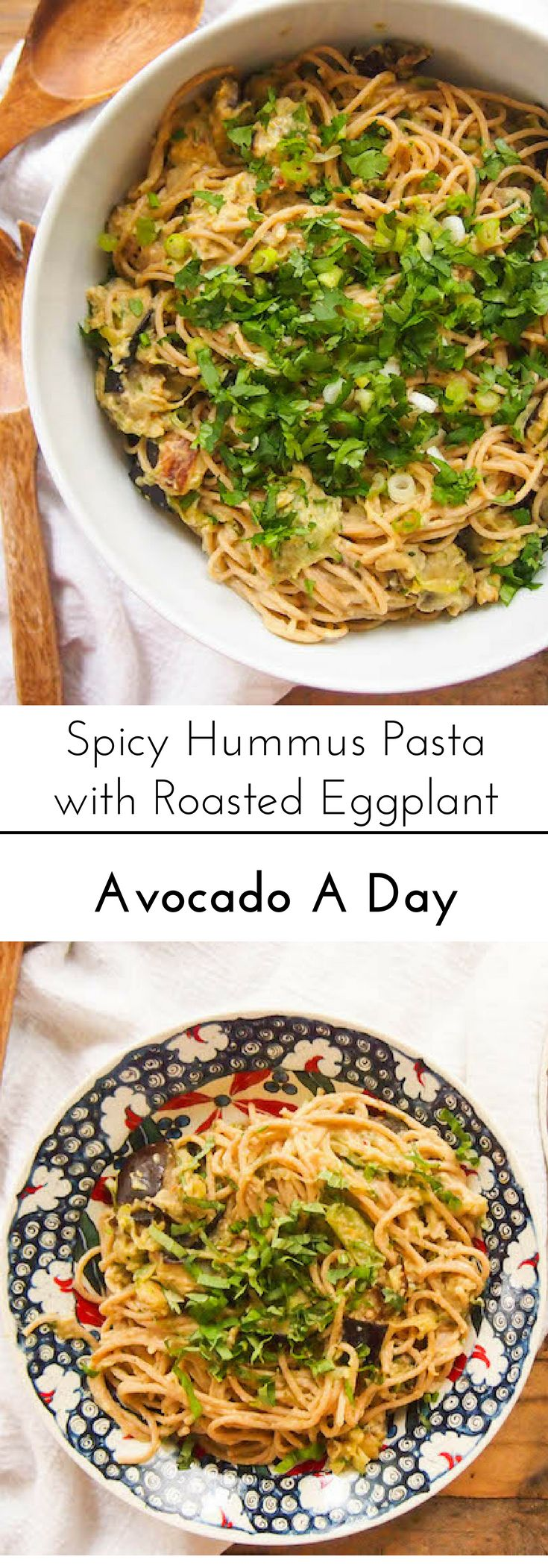 Use flavored hummus to make an easy pasta sauce for this Mediterranean inspired pasta!