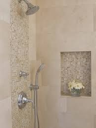 Awesome Shower Tile Ideas Make Perfect Bathroom Designs Always : Minimalist  Bathroom Metalic Head Shower Small Flower Vase Shower Tile Ideas By Renee  Dubas ...