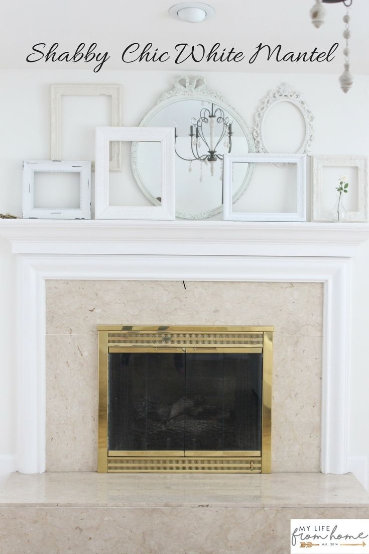 A Shabby Chic White Mantel White Cottage Home Living White Mantel White Shabby Chic Shabby Chic Homes