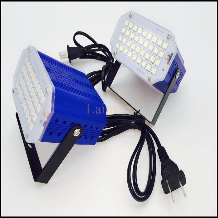 Free shipping hot sale AC90-260V 36 led White/RGB LED Stage Light DJ Disco Strobe Flash Light EU/US Plug for family Party KTV
