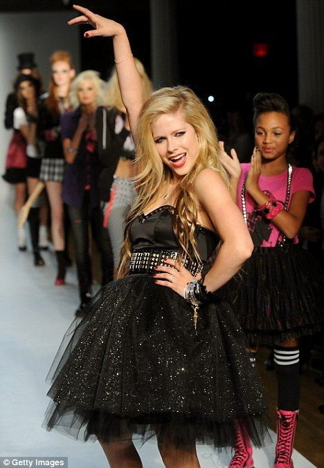 Single lady? Avril launches her new clothing collection Abbey Dawn at New York Fashion Week earlier this week