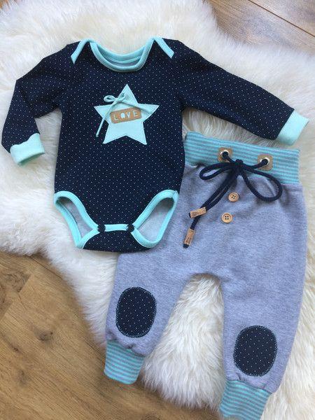 Sets - ♥ Newborn 2 tlg. Babyset gr.56 ♥ - ein Designerstück von Creative-Happiness bei DaWanda