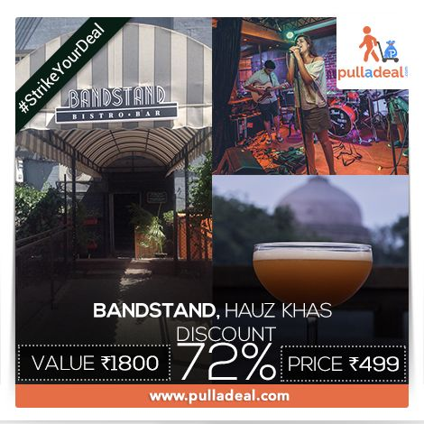 Enjoy the all in one package of a lovely serene natural view, ‪#‎Drinks‬, ‪#‎Music‬, ‪#‎Food‬ and friends at ‪#‎Bandstand‬, ‪#‎HauzKhas‬ with trending ‪#‎Deals‬ at www.pulladeal.com ‪#‎StrikeYourDeal‬ here: http://goo.gl/Oh4Swa