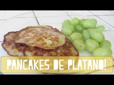 RECETA - PANCAKES DE PLATANO! (saludables)