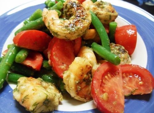 Shrimp, Green Bean, and Tomato Salad with Dilled Lemon-Dijon ...