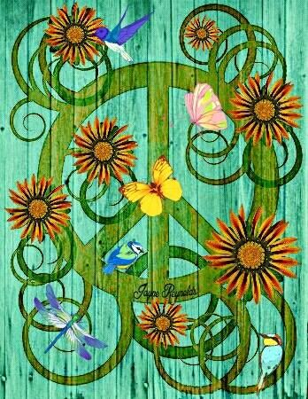 ☮ American Hippie Art ~ Peace Sign