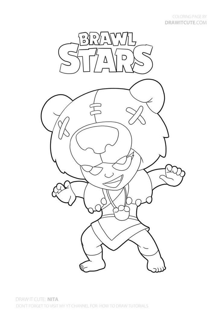 Nita from Brawl Stars #brawlstars #draw #drawings #howto # ...