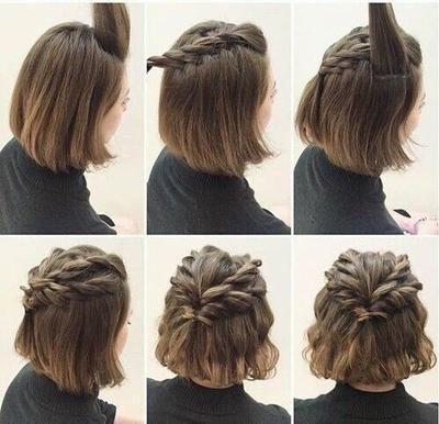 Como hacer peinados para cabello corto faciles