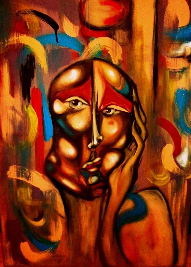 """windsom"" by Iulia Sirbu Original painting 50x70 cm, acrylics on canvas, custom-made, SOLD"