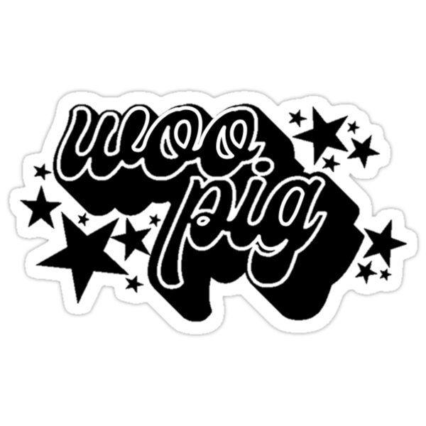 Woo Pig Sticker By Raecarlton In 2020 College Decals Vinyl Decal Stickers Vinyl