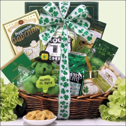 8 best basket ideas irish images on pinterest the irish gift luck o the irish small st patricks day gourmet gift basket 4299 negle Images