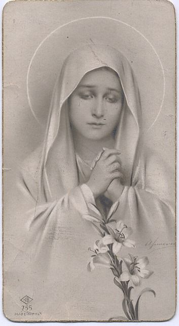 Our Sorrowful Mother, vintage prayer card