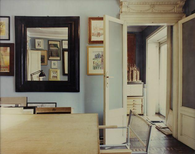 Luigi Ghirri, Studio di Aldo Rossi Milano, 1989-90. 7 7/8 x 9 5/8 in.