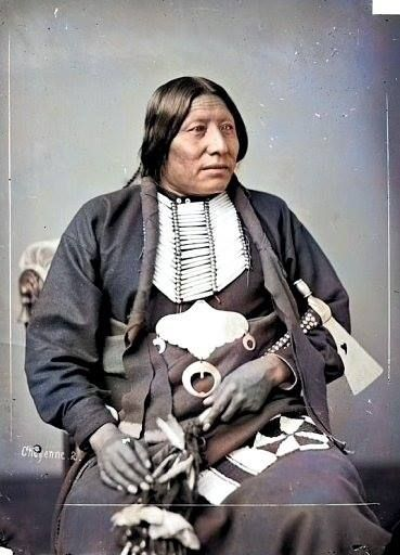 Min-Nin-Ne-Wah (Whirlwind). Cheyenne. 1877. Photo by C.M. Bell.