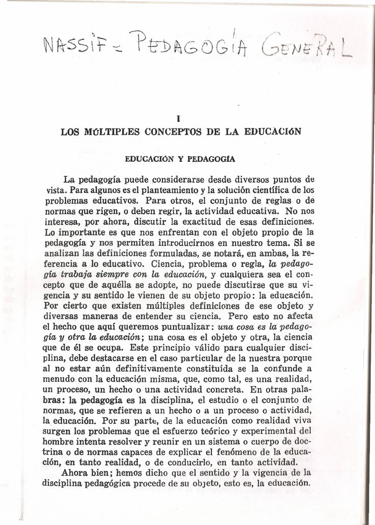 Ricardo Nassif. Pedagogia General. Cap. 1 - Documents